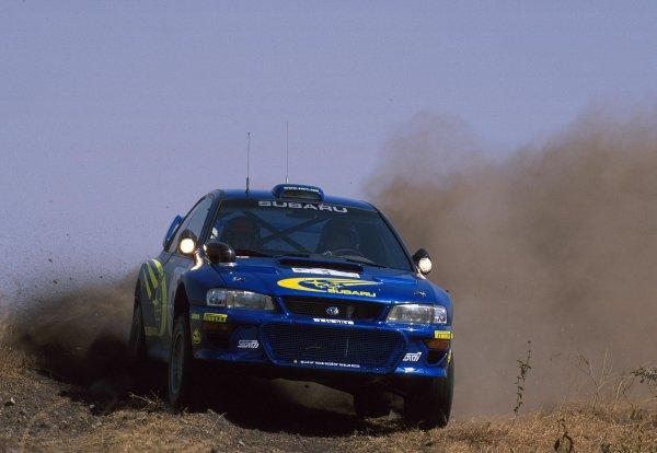 2000 World Rally ChampionshipRound 3, Safari WRC25th - 27th Feb 2000Richard Burns - Subaru Impreza, action.Photo: McKleinTel: +44 (0)181 251 3000Fax: +44 (0)181 251 3001Somerset House,Somerset Road,Teddington,Middlesex,TW11 8RUUnited Kingdon.