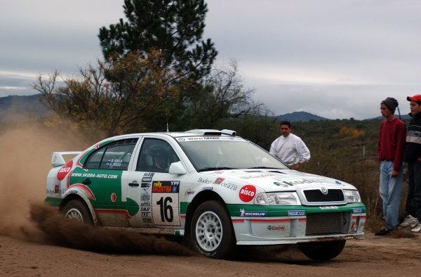 World Rally Championship, Rally of Argentina, May 17-20, 2002.Gabriel Pozzo during shakedown.Photo: Ralph Hardwick/LAT