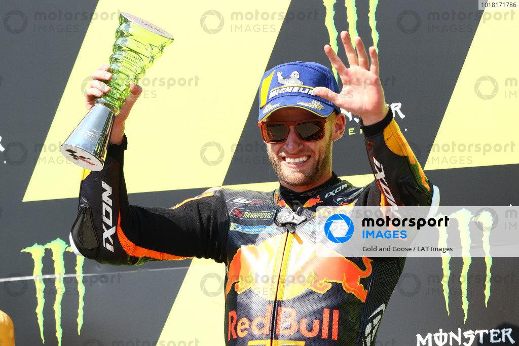 Podium: race winner Brad Binder, Red Bull KTM Factory Racing.
