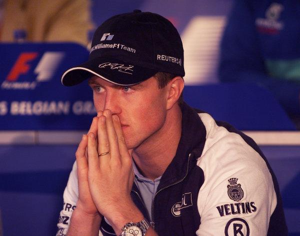 2001 Belgian Grand Prix Spa-Francorchamps, Belgium31st August - 2nd September 2001.Press conference. Portrait.World Copyright -: Steve Etherington/LAT Photographic ref: 17 5 mb Digital Image Only