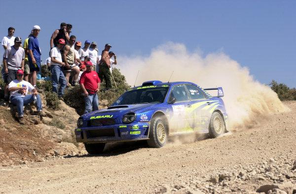 2001 World Rally Championship.Acropolis Rally June 14-17, 2001.Petter Solberg on stage 7.Photo: Ralph Hardwick/LAT