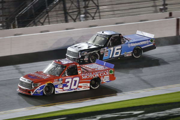 #30: Danny Bohn, On Point Motorsports, Toyota Tundra North American Motor Car, #16: Austin Hill, Hattori Racing Enterprises, Toyota Tundra SiriusXM