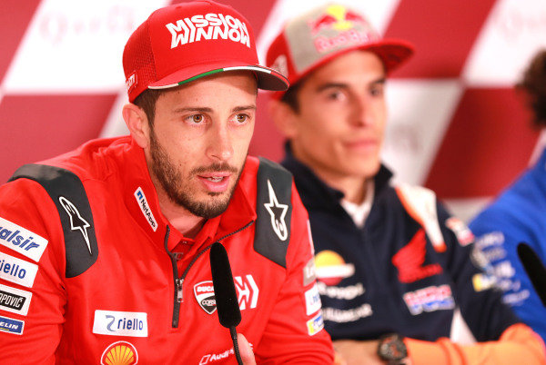Andrea Dovizioso, Ducati Team, Marc Marquez, Repsol Honda Team.
