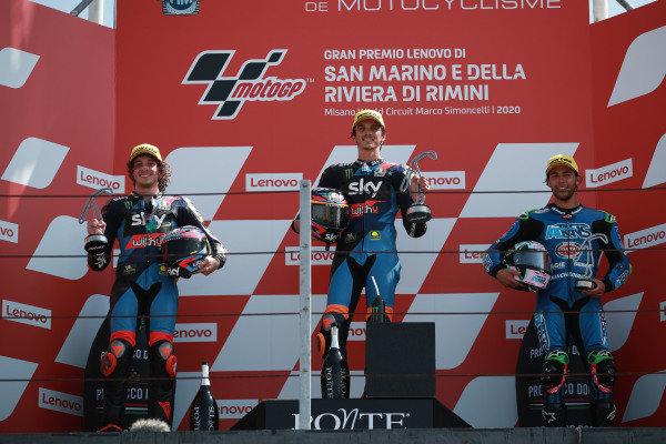 Marco Bezzecchi, Sky Racing Team VR46 Luca Marini, Sky Racing Team VR46 Enea Bastianini, Italtrans Racing Team.