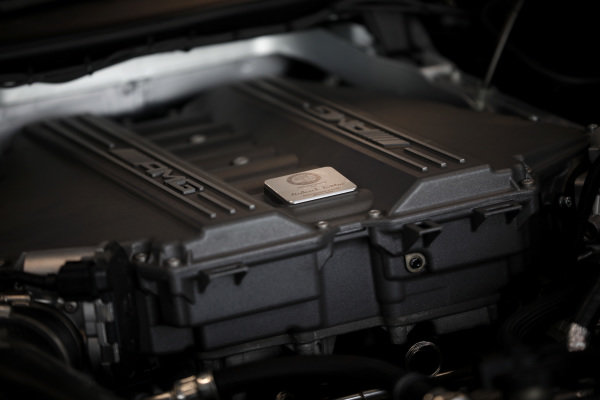 AMG engine cover.