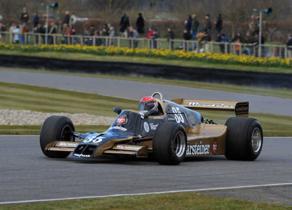 2016 74th Members Meeting Goodwood Estate, West Sussex,England 19th - 20th March 2016 Ground Effect Grand Prix Demo Marc Devis Arrows World Copyright : Jeff Bloxham/LAT Photographic Ref : Digital Image