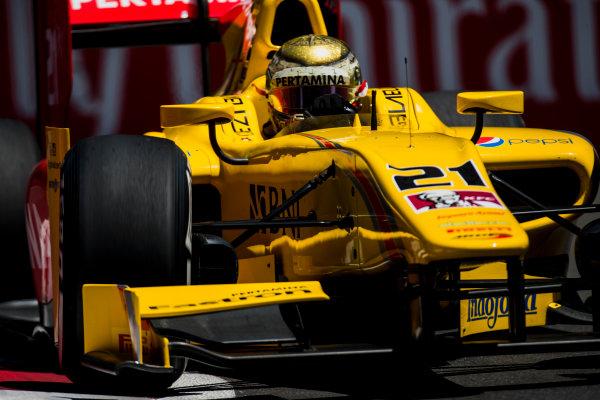 2017 FIA Formula 2 Round 4. Baku City Circuit, Baku, Azerbaijan. Friday 23 June 2017. Sean Gelael (INA, Pertamina Arden)  Photo: Zak Mauger/FIA Formula 2. ref: Digital Image _54I0162