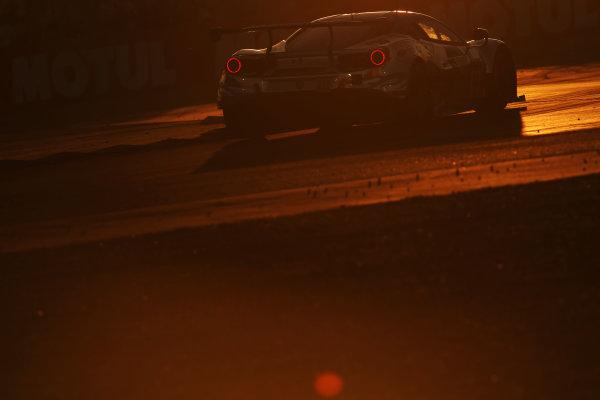 2017 Le Mans 24 Hours Circuit de la Sarthe, Le Mans, France. Thursday 15 June 2017 #60 Clearwater Racing Ferrari 488 GTE: Richard Wee, Hiroki Katoh, Alvaro Parente  World Copyright: JEP/LAT Images