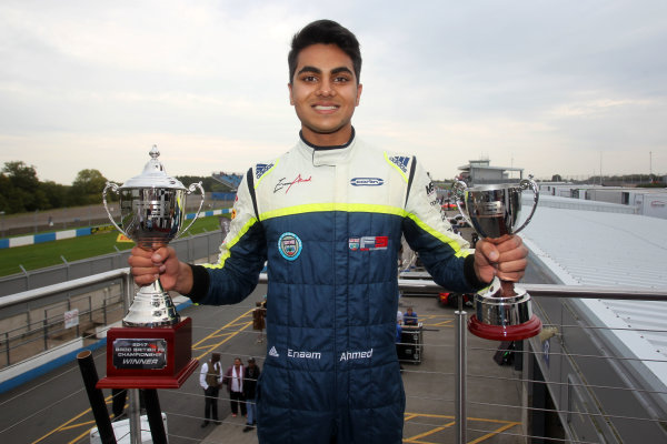 2017 BRDC British F3 Championship, Donington Park, Leicestershire. 23rd - 24th September 2017. Enaam Ahmed (GBR) Carlin BRDC F3 World Copyright: JEP/LAT Images