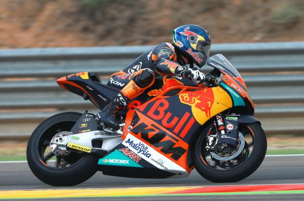 2017 Moto2 Championship - Round 14 Aragon, Spain. Friday 22 September 2017 Brad Binder, Red Bull KTM Ajo World Copyright: Gold and Goose / LAT Images ref: Digital Image 693608