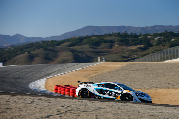 IMSA Continental Tire SportsCar Challenge Mazda Raceway Laguna Seca 240 Mazda Raceway Laguna Seca Monterey, CA USA Friday 22 September 2017 69, McLaren, McLaren GT4, GS, Chris Green, Jesse Lazare World Copyright: Jake Galstad LAT Images