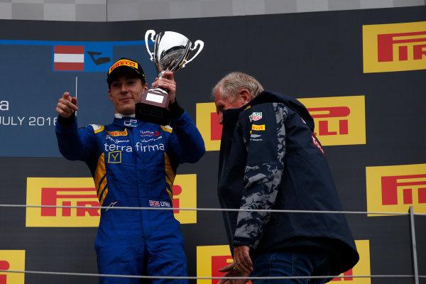 2016 GP2 Series Round 4 Red Bull Ring, Spielberg, Austria. Sunday 3 July 2016. Alex Lynn, (GBR, DAMS)  Photo: Sam Bloxham/GP2 Series Media Service. ref: Digital Image _SLA9950