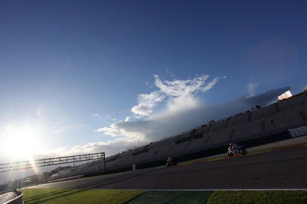 Valencia Test Nov 09-10Valentino Rossi Ducati is tailed by its former rider Casey Stoner Honda
