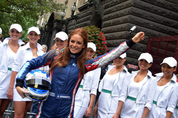 Georgia Geminder (AUS) 2014 Australian Grand Prix Ambassador at Melbourne Town Hall with the Rolex girls. Formula One World Championship, Rd1, Australian Grand Prix, Preparations, Albert Park, Melbourne, Australia, Tuesday 11 March 2014.