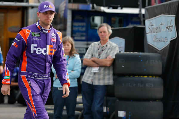 Monster Energy NASCAR Cup Series Overton's 400 Pocono Raceway, Long Pond, PA USA Saturday 29 July 2017 Denny Hamlin, Joe Gibbs Racing, FedEx Ground Toyota Camry World Copyright: Matthew T. Thacker LAT Images