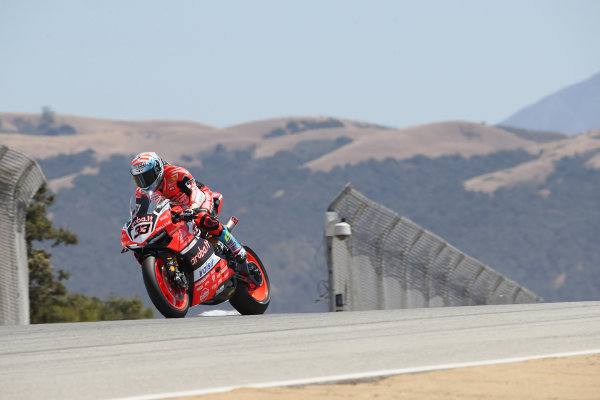 2017 Superbike World Championship - Round 8 Laguna Seca, USA. Friday 7 July 2017 Marco Melandri, Ducati Team World Copyright: Gold and Goose/LAT Images ref: Digital Image 683055