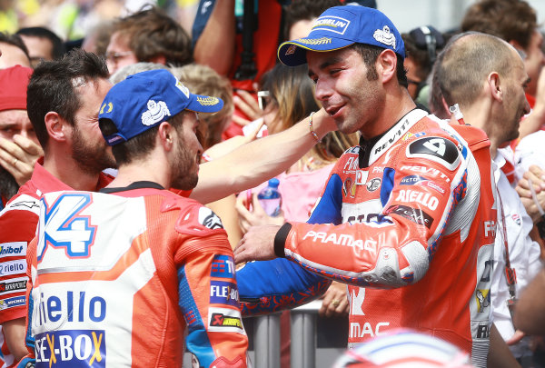 2017 MotoGP Championship - Round 6 Mugello, Italy Sunday 4 June 2017 Andrea Dovizioso, Ducati Team, Danilo Petrucci, Pramac Racing World Copyright: Gold & Goose Photography/LAT Images ref: Digital Image 674795