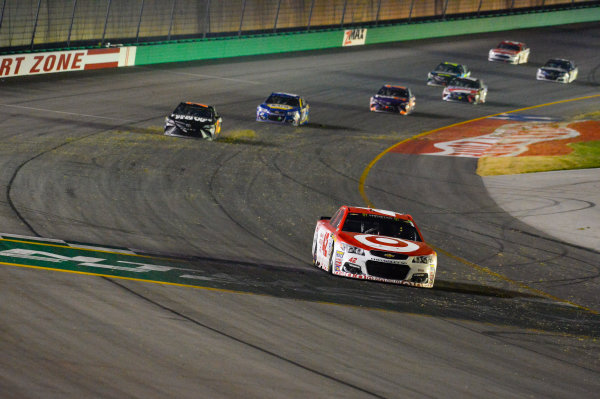 Monster Energy NASCAR Cup Series Quaker State 400 Kentucky Speedway, Sparta, KY USA Saturday 8 July 2017 Kyle Larson, Chip Ganassi Racing, Target Chevrolet SS crosses the finish line World Copyright: Barry Cantrell LAT Images