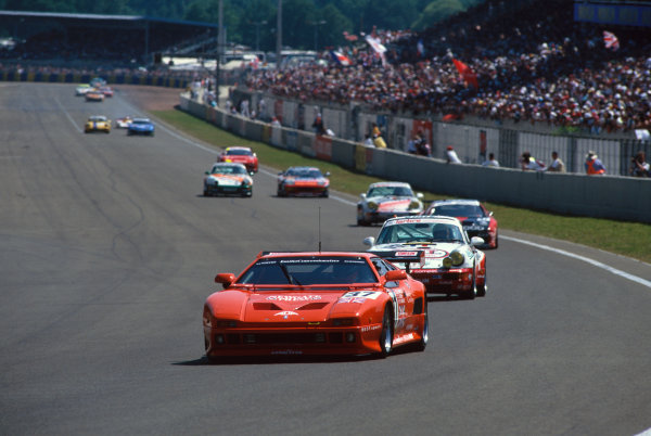 1994 Le Mans 24 Hours. Le Mans, France. 18th - 19th June 1994. Dominic Chappell/Jonathan Baker/Phil Andrews (De Tomaso Pantera), Not Classified, action.  World Copyright: LAT Photographic. Ref:  94LM18