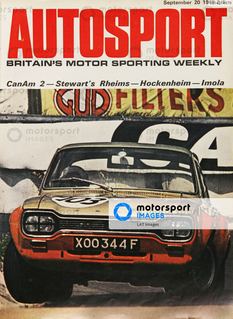 1968 Autosport Front Cover. 20th September 1968. World Copyright: LAT Photographic.