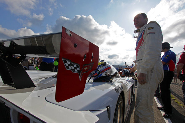 10-11 August, 2012, Watkins Glen, New York USADarren Law stands next to his race car before qualifying.(c)2012, R D. EthanLAT Photo USA