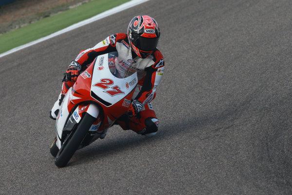 2017 Moto3 Championship - Round 14 Aragon, Spain. Saturday 23 September 2017 Kaito Toba, Honda Team Asia World Copyright: Gold and Goose / LAT Images ref: Digital Image 13996