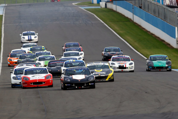 2017 Ginetta GT5 Challenge, Donington Park, Leicestershire. 23rd - 24th September 2017. Race Start. World Copyright: JEP/LAT Images