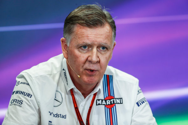 Autodromo Hermanos Rodriguez, Mexico City, Mexico. Friday 28 October 2016. Mike O' Driscoll, Group CEO, Williams Martini Racing, in the Team Principals Press Conference. World Copyright: Glenn Dunbar/LAT Photographic ref: Digital Image _X4I6936