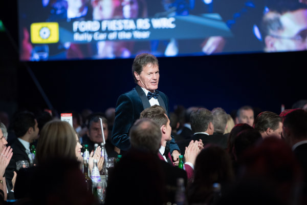 2017 Autosport Awards Grosvenor House Hotel, Park Lane, London. Sunday 3 December 2017. Malcolm Wilson accepts the Rally Car of the Year Award for the Ford Fiesta RS WRC. World Copyright: Zak Mauger/LAT Images  ref: Digital Image _O3I7024