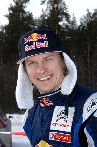 Kimi Raikkonen (FIN) Citroen. World Rally Championship, Rd1, Rally Sweden, Karlstad, Sweden, Day 3, Sunday February 13 2010.