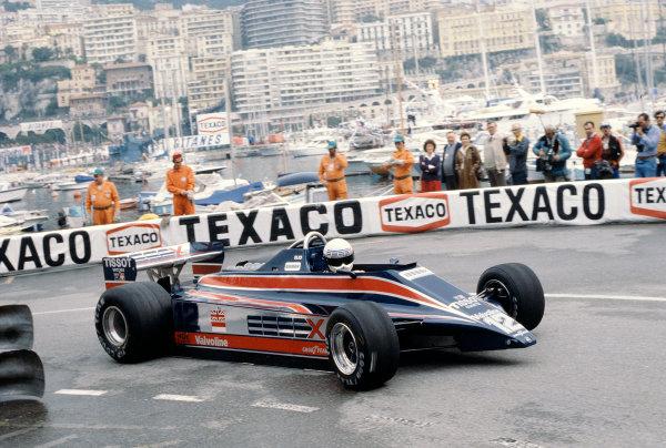 1980 Monaco Grand Prix.Monte Carlo, Monaco.15-18 May 1980.Elio de Angelis (Lotus 81 Ford) 9th position.Ref-80 MON 23.World Copyright - LAT Photographic