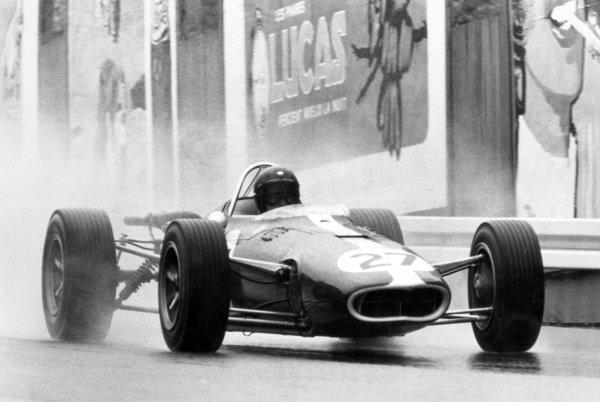 1966 Belgian Grand Prix.Spa-Francorchamps, Belgium. 12 June 1966.Dan Gurney, Eagle AAR101-Climax, not classified, action.World Copyright: LAT PhotographicRef: Motor b&w print