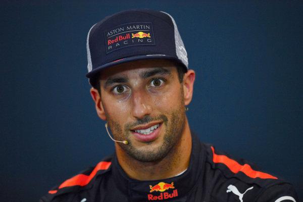 Daniel Ricciardo (AUS) Red Bull Racing in the Press Conference