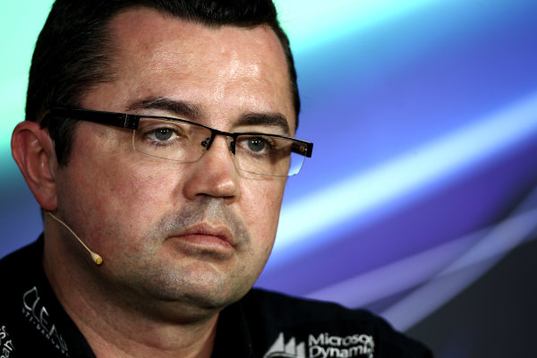 Albert Park, Melbourne, Australia Friday 15th March 2013 Eric Boullier, Team Principal, Lotus F1, in a Press Conference. World Copyright: Andy Hone/  ref: Digital Image HONY5088