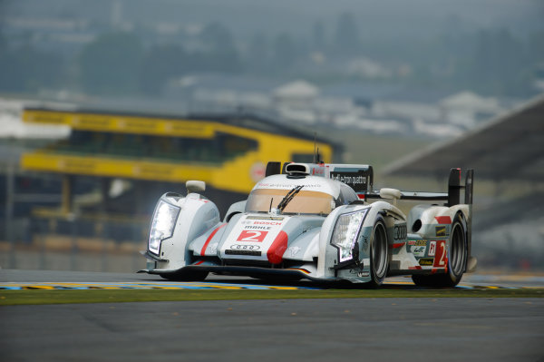 9th June, 2013, Le Mans, France Audi Sport Team Joest: Tom Kristensen, Loic Duval, Allan McNish.(c) 2013, Camden Thrasher LAT Photo USA