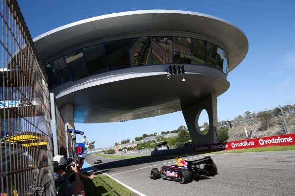 JEREZ (ESP) OKT 17-19 2014 - World Series by Renault 2014 at Circuito Permanente de Jerez. Carlos Sainz jr. #1 Dams. Action. © 2014 Diederik van der Laan  / Dutch Photo Agency / LAT Photographic