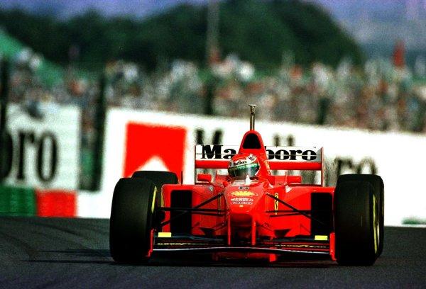 1997 Japanese Grand Prix.Suzuka, Japan.10-12 October 1997.Eddie Irvine (Ferrari F310B) 3rd position.World Copyright - LAT Photographic