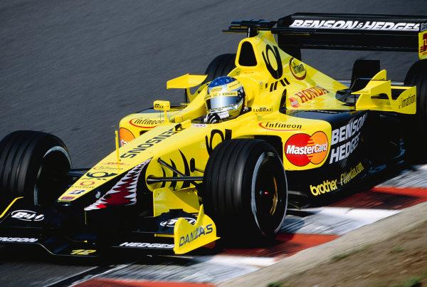 2001 Hungarian Grand Prix.Hungaroring, Budapest, Hungary. 17-19 August 2001.Jean Alesi (Jordan EJ11 Honda).Ref-01 MON 35.World Copyright - Lorenzo Bellanca/LAT Photographic