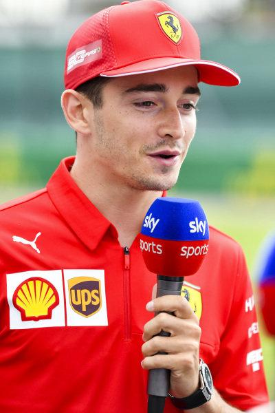 Charles Leclerc, Ferrari speaks to the media