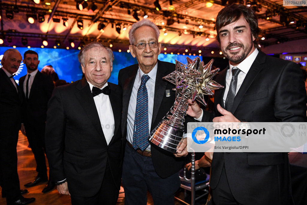 Frank Stella with Fernando Alonso and Jean Todt