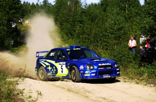 2001 World Rally Championship.Neste Rally Finland. Jyvaskyla, August 24-26, 2001.Richard Burns on stage 14.Photo: Ralph Hardwick/LAT