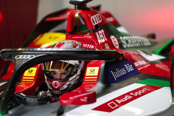 Daniel Abt (DEU), Audi Sport ABT Schaeffler, Audi e-tron FE05, sits in his car