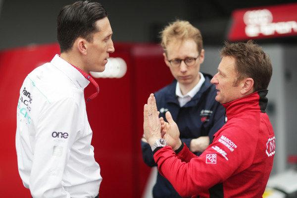 James Barclay, Team Director, Panasonic Jaguar Racing, Sylvain Filippi, Managing Director & CTO, Virgin Racing, and Allan McNish, Team Principal, Audi Sport Abt Schaeffler