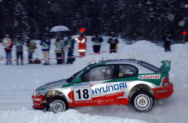 2002 World Rally ChampionshipUddeholm Swedish Rally, 1st-3rd February 2002.Freddy Loix on stage 1.Photo: Ralph Hardwick/LAT