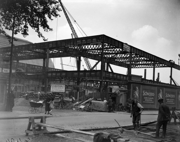 Construction work on an extension to the Olympia exhibition halls