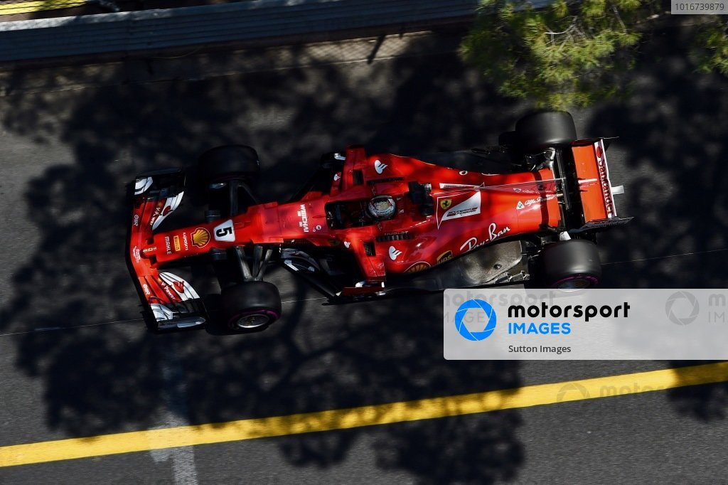 Sebastian Vettel (GER) Ferrari SF70-H at Formula One World Championship, Rd6, Monaco Grand Prix, Race, Monte-Carlo, Monaco, Sunday 28 May 2017. BEST IMAGE