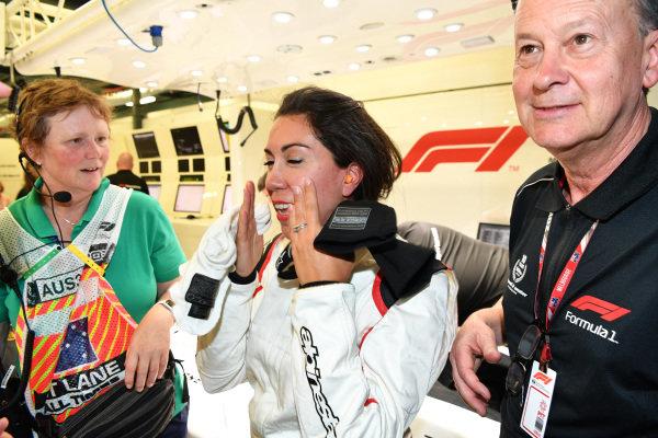 F1 Experiences 2-Seater passenger at Formula One World Championship, Rd1, Australian Grand Prix, Practice, Melbourne, Australia, Friday 23 March 2018.