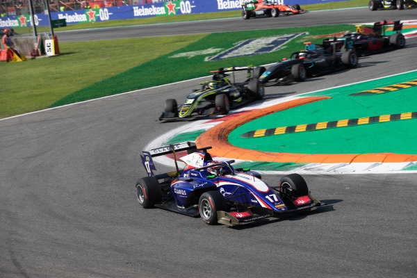 AUTODROMO NAZIONALE MONZA, ITALY - SEPTEMBER 07: Devlin DeFrancesco (CAN, Trident) during the Monza at Autodromo Nazionale Monza on September 07, 2019 in Autodromo Nazionale Monza, Italy. (Photo by Joe Portlock / LAT Images / FIA F3 Championship)