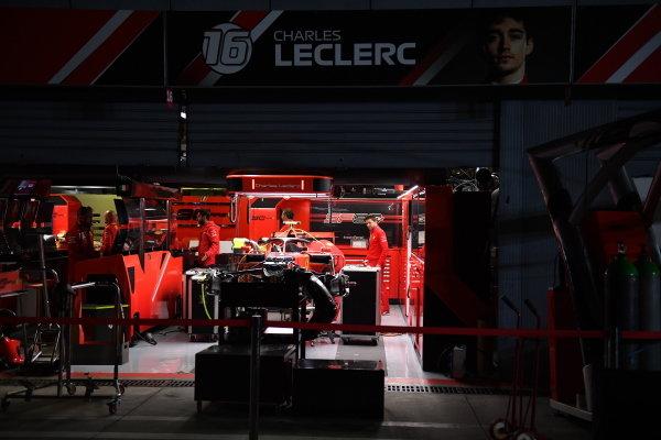 The Ferrari garage