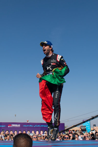 Race winner Antonio Felix da Costa (PRT), DS Techeetah celebrates on the podium